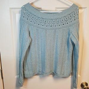 Beautiful Light Blue Loft Sweater Size L